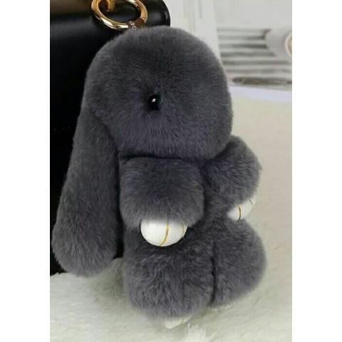 Заяц 18см серый