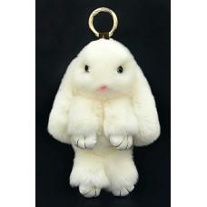 Заяц 18см белый