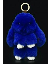 Заяц 18см синий