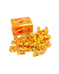 Жуйки Love is апельсин-ананас (упаковка блок 100шт)